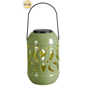 allen + roth Ceramic Solar Table Top/Hanging Lantern LED Light