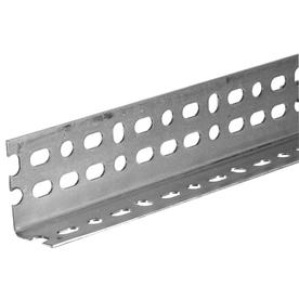 Steelworks 6-ft x 2-1/4-in Plated Steel Slotted Angle