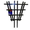 California Home & Garden 16-in W x 24-in H Black Latex Paint Traditional Garden Trellis
