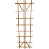 California Home & Garden 36-in W x 90-in H Brown Stain Traditional Garden Trellis