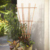 California Home & Garden 32-in W x 72-in H Brown Stain Traditional Garden Trellis