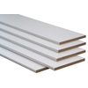 3/4-in x 12-in x 8-ft White Particleboard Bullnose-Edged Shelf