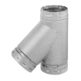 Selkirk 4-in Dia 45-Degree Galvanized Tee Fitting