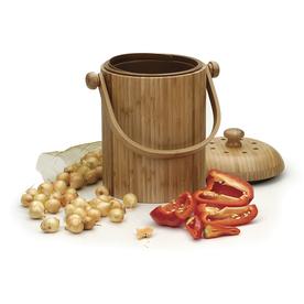 Compost Wizard 0.75-Gallon Wood Kitchen Compost Bin Composter