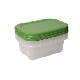 BELLA Contemporary Storage 4-Count Plastic 4pk. 5.5 Quart Storage Set