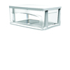 Style Selections 14.5-in x 8.75-in 1-Drawer White Clear Plastic Drawer