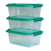 Style Selections 3-Pack Bella Storage Solution 5-Quart Clear Tote with Latching Lid