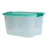 Style Selections Bella Storage Solution 40-Quart Clear Tote with Latching Lid
