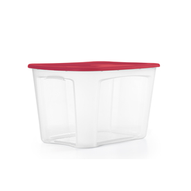 BELLA Contemporary Storage Bella 121-Quart Clear Tote with Standard Snap Lid