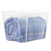 Style Selections Bella 30-Gallon Clear Tote with Standard Snap Lid