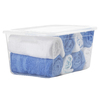 Style Selections 54-Quart Clear Tote with Standard Snap Lid