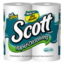 Shop SCOTT 4 Pack Toilet Paper At Lowes
