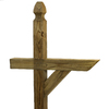 Top Choice 4-in x 4-in x 84-in Gothic Treated Deck Post