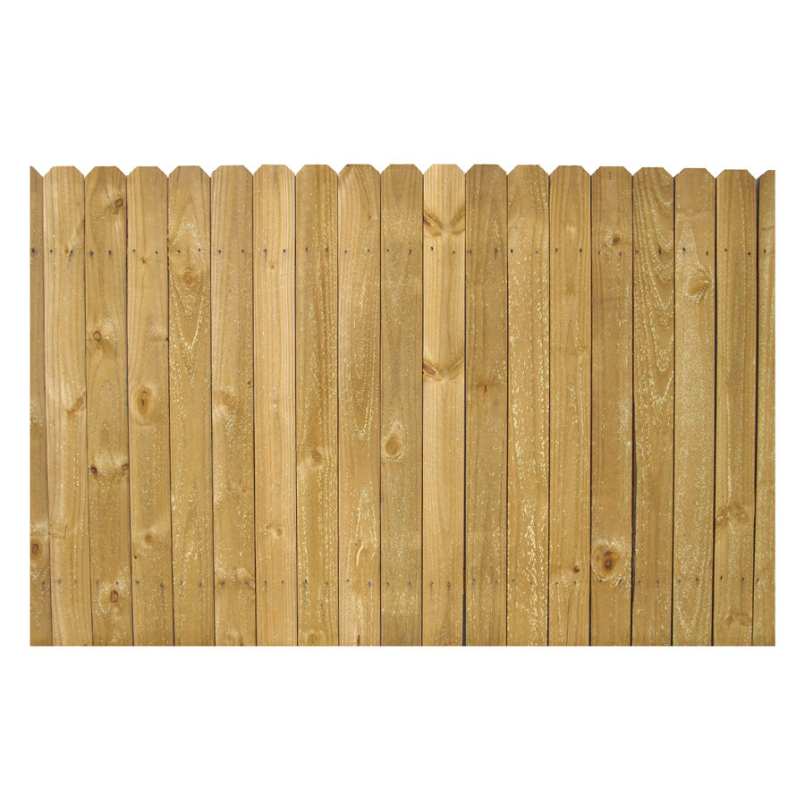 Shop 4 Ft X 8 Ft Pine Stockade Wood Fence Panel At