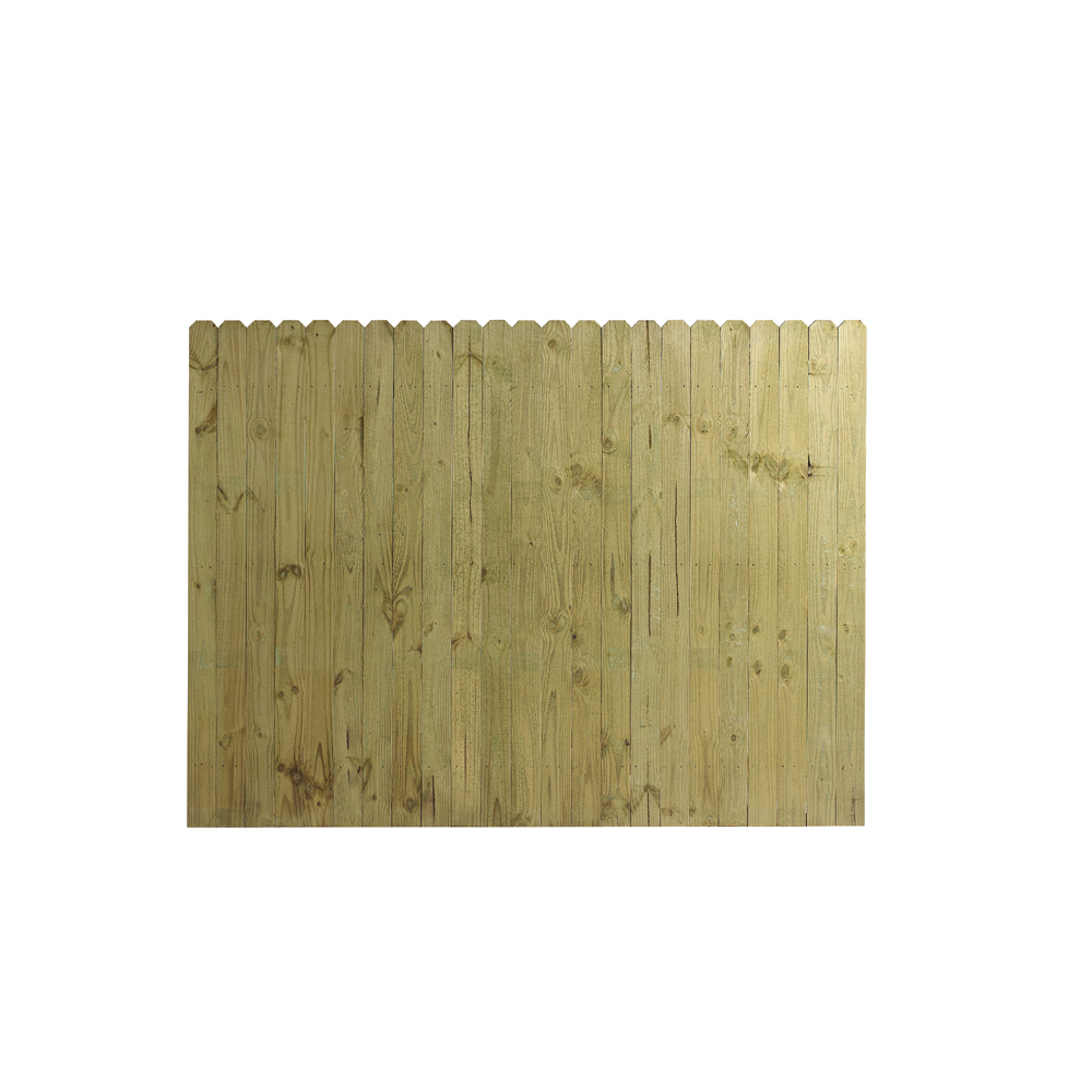 Wood Fencing 6 39 X 8 39 Dog Ear Stockade Fence Panel ACQ CA B At Lowes