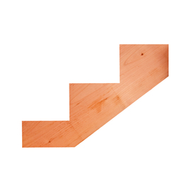 3-Step Redwood Stair Riser