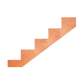 Top Choice 5-Step Redwood Deck Stair Stringer