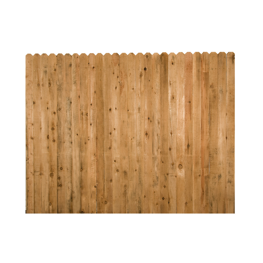 Shop Wood Fencing 6 39 X 8 39 Rustic Dog Ear Fence Panel At