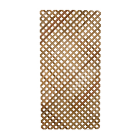 Top Choice Wood Redwood Privacy Lattice (Actual: 0.18-in)