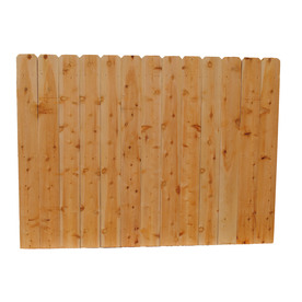 Shop cedar wood fence panel common 8 ft x 6 ft actual 8 ft x 6 ft at - Most frequent fence materials ...
