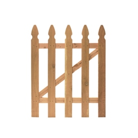 Shop severe weather cedar fence gate common 3 5 ft x 3 5 ft actual 3 5 ft x 3 5 ft at - Most frequent fence materials ...
