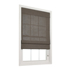 allen + roth 23-in W x 72-in L Espresso Light Filtering Fabric Roman Shade