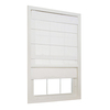 allen + roth 23-in W x 72-in L Snow Light Filtering Fabric Roman Shade
