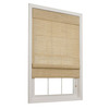 allen + roth 23-in W x 72-in L Honey Light Filtering Fabric Roman Shade