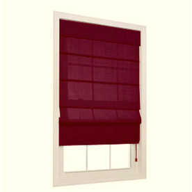 allen + roth Burgundy Light Filtering Polyester Fabric Roman Shade (Common 27-in; Actual: 26.5-in x 72-in)