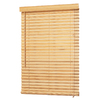 allen + roth 23-in W x 64-in L Natural Bamboo 2-in Slat Light Filtering Horizontal Blinds