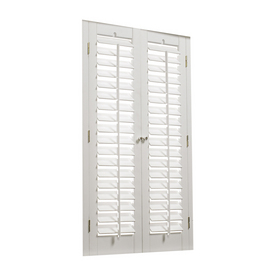 Shop Allen Roth 31 In To 33 In W X 36 In L Plantation White Faux Wood Interior Shutter At