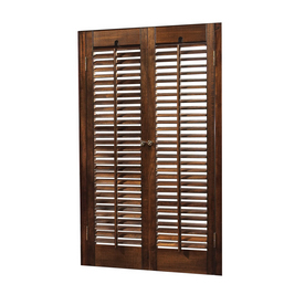 Shop Allen Roth 24 In L Colonial Mahogany Wood Interior Shutter At