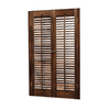allen + roth 23-in-25-inW x 24-inL Colonial Mahogany Wood Interior Shutter