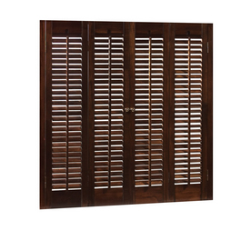 Shop Allen Roth 28 In L Colonial Mahogany Wood Interior Shutter At