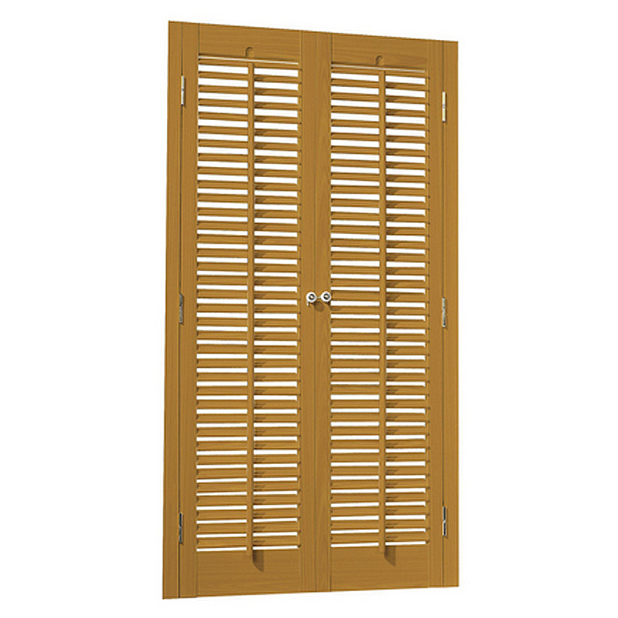 20 in l colonial golden oak faux wood interior shutter at lowes com