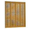 allen + roth 27-in to 29-in W x 36-in L Colonial Golden Oak Faux Wood Interior Shutter