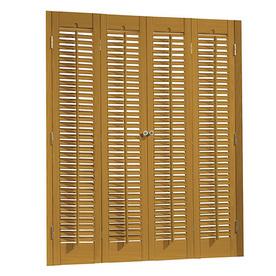 allen + roth 29-in to 31-in W x 28-in L Colonial Golden Oak Faux Wood Interior Shutter