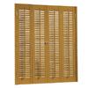 allen + roth 35-in to 37-in W x 28-in L Colonial Golden Oak Faux Wood Interior Shutter