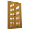 allen + roth 23-in-25-in W x 24-in L Plantation Golden Oak Faux Wood Interior Shutter