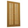 allen + roth 23-in to 25-in W x 36-in L Plantation Golden Oak Faux Wood Interior Shutter