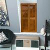 allen + roth 35-in to 37-in W x 60-in L Plantation Golden Oak Faux Wood Interior Shutter