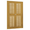 allen + roth 35-in-37-in W x 60-in L Plantation Golden Oak Faux Wood Interior Shutter