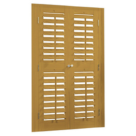 allen + roth 39-in to 41-in W x 72-in L Plantation Golden Oak Faux Wood Interior Shutter