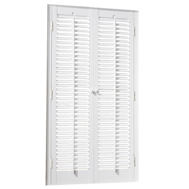 allen + roth 23-in to 25-in W x 32-in L Colonial White Faux Wood Interior Shutter