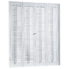 allen + roth 29-in to 31-in W x 20-in L Colonial White Faux Wood Interior Shutter