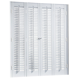 allen + roth 35-in to 37-in W x 24-in L Colonial White Faux Wood Interior Shutter