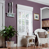 allen + roth 27-in to 29-in W x 24-in L Plantation White Faux Wood Interior Shutter