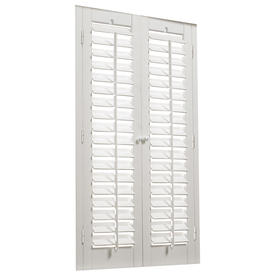 allen + roth 35-in to 37-in W x 24-in L Plantation White Faux Wood Interior Shutter