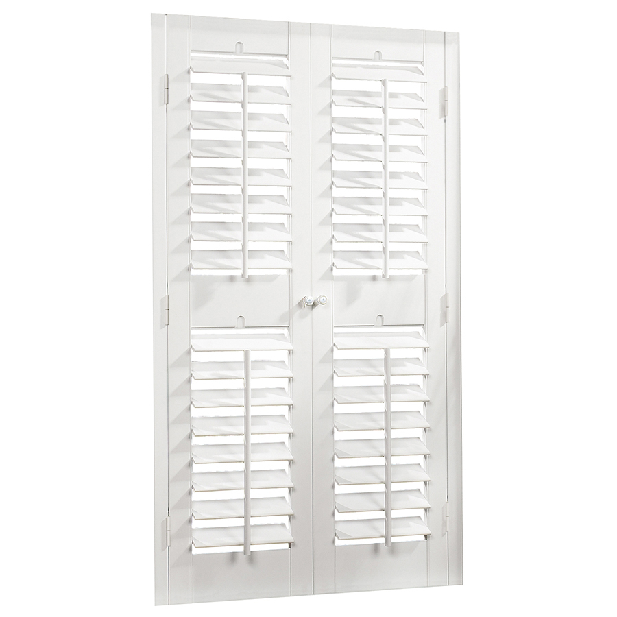 Shop Allen Roth 27 In To 29 In W X 74 In L Plantation White Faux Wood Interior Shutter At