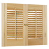 allen + roth 23-in-25-in W x 20-in L Colonial Golden Oak Wood Interior Shutter